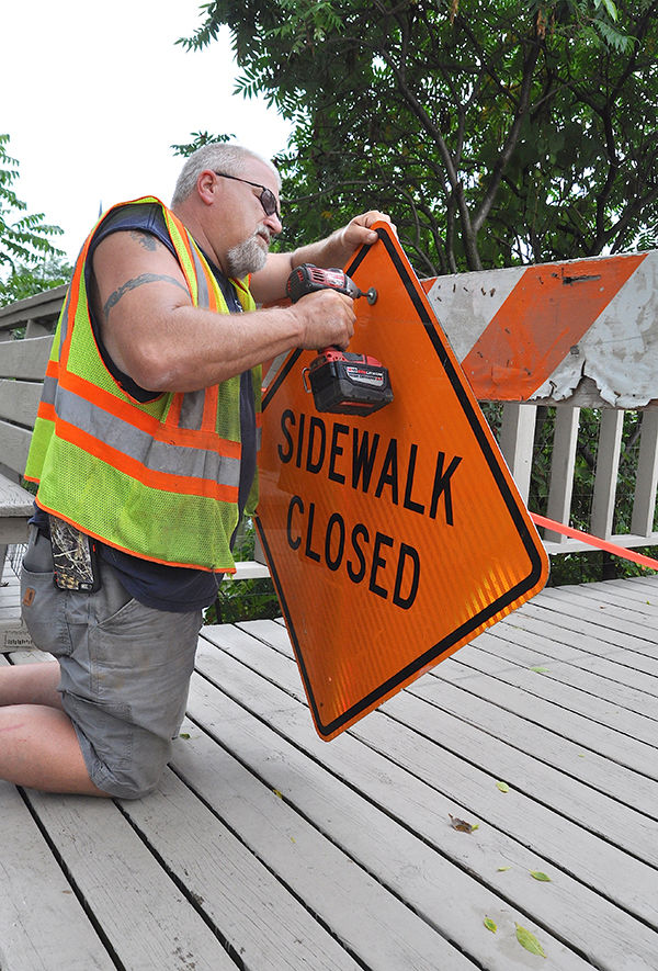 Riverwalk near Main closed after seawall collapse