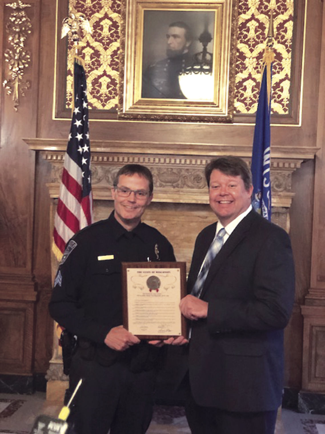 police sergeant honored