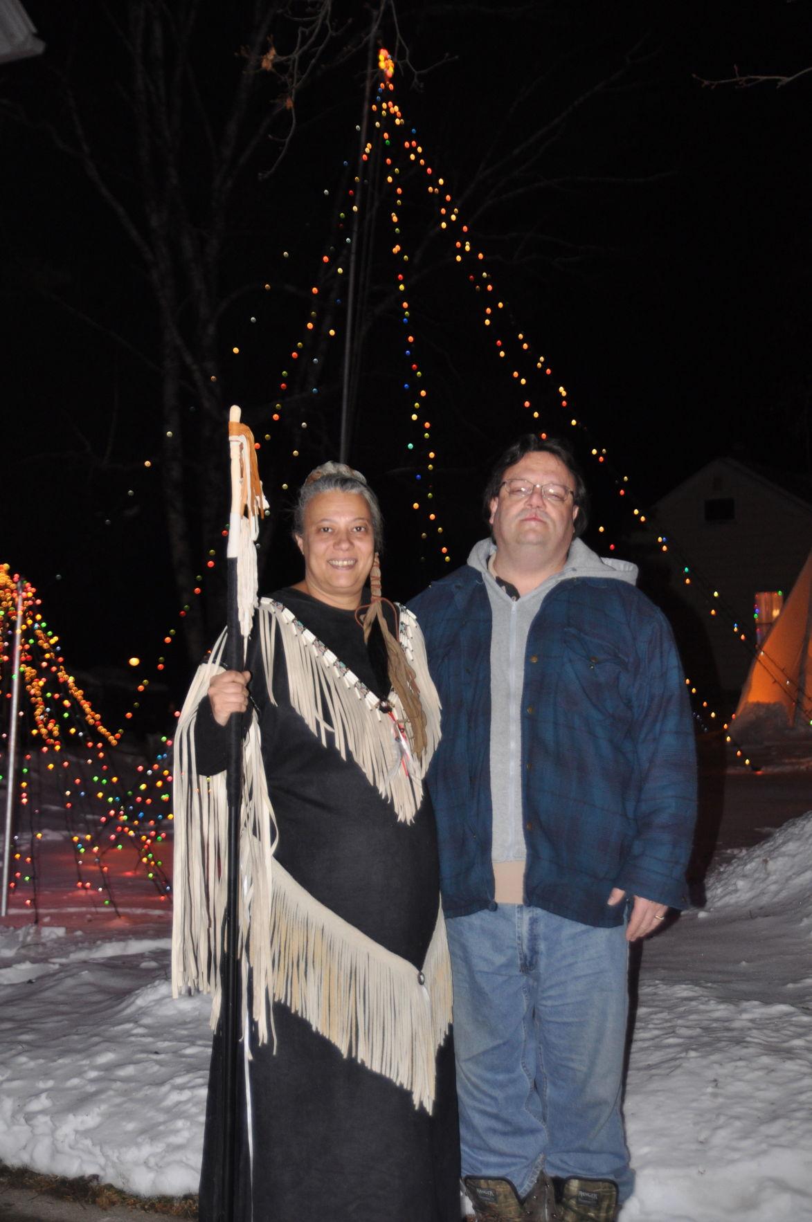 Couple's display shines light on holiday