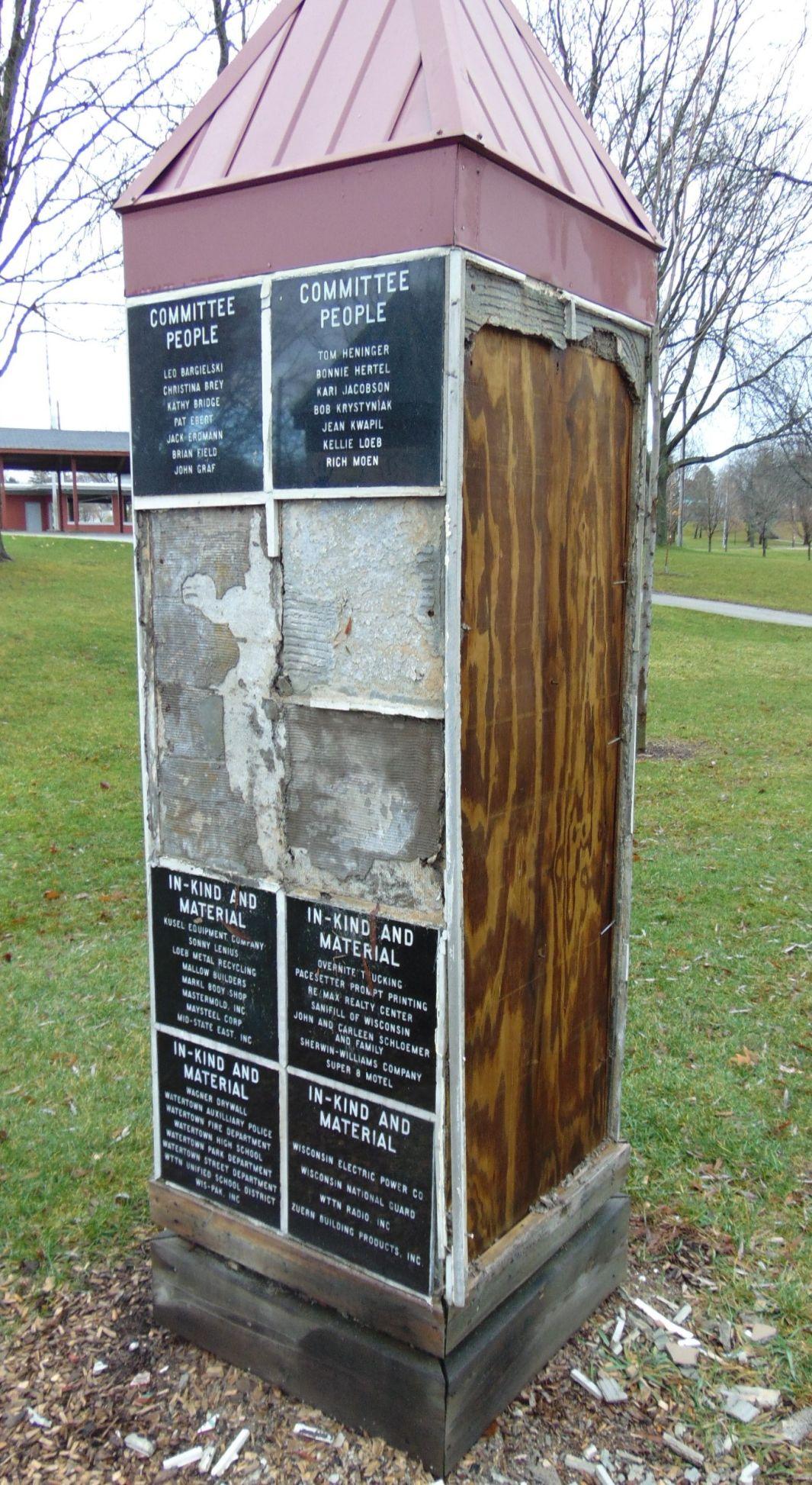 Chamberland Playground damage