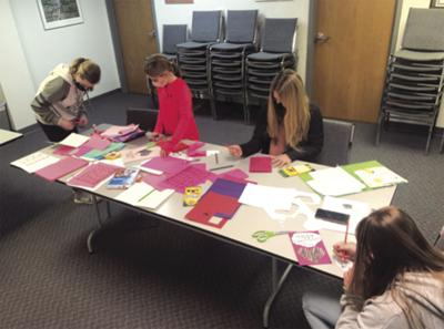 4-H News, Lebanon Luckies 4-H Clulb Valentine's Day service