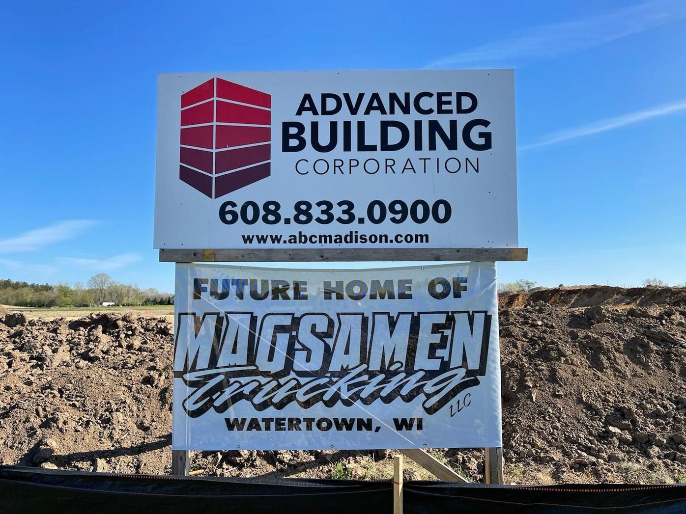 Magsamen Trucking breaks ground
