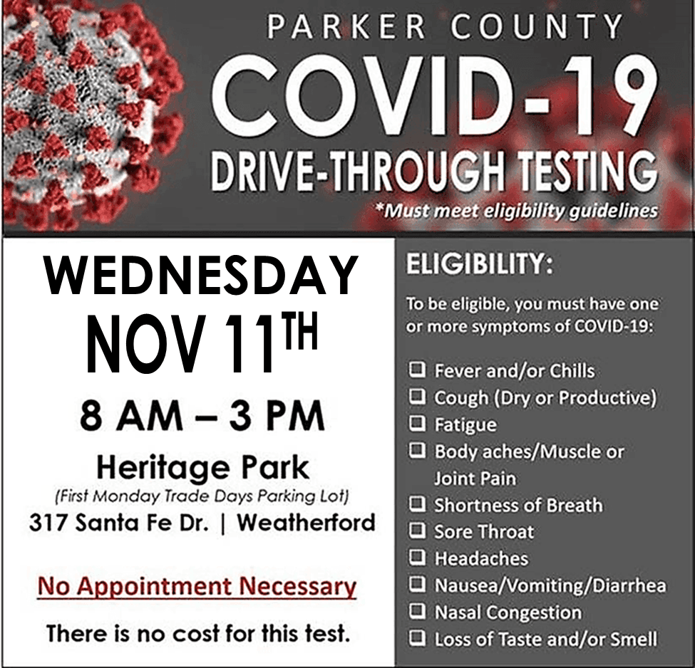 Parker County COVID testing