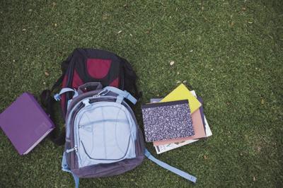Books and backpacks