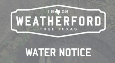 Water notice
