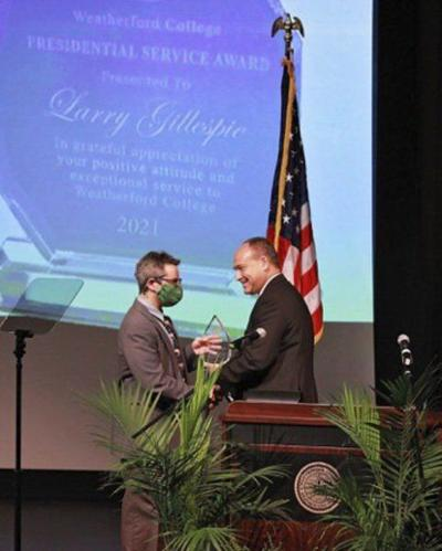 Gillespie honored with WC Presidential Service Award