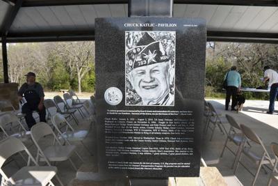 Pavilion at Veteran's Memorial dedicated to veterans' advocate