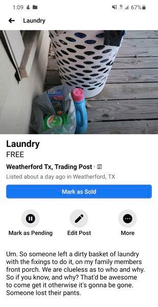 AIRING DIRTY LAUNDRY: Mysterious basket of clothes found on resident's front porch