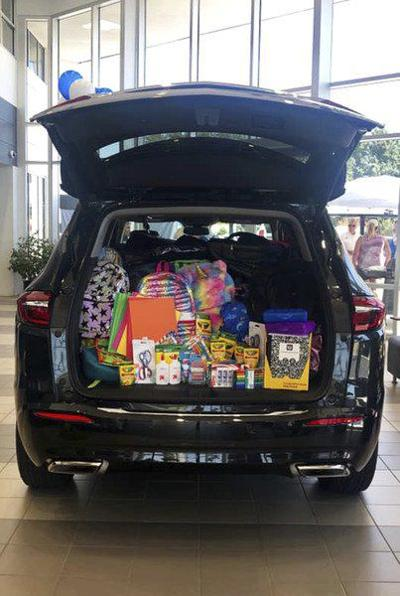 WISD Education Foundation drive receives 250 backpacks