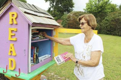 Retired teacher sets up Little Free Library