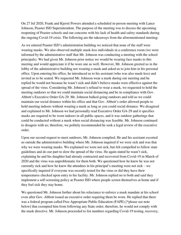 Powers' Memorandum