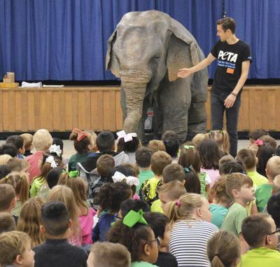 PETA gives presentation to Springtown Elementary students