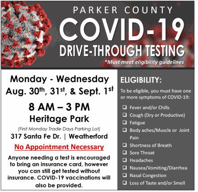 Parker County testing