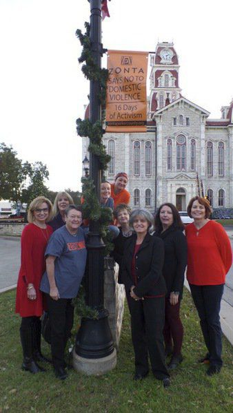 Zonta Club says no to violence against women