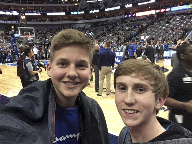 Peaster exchange student meets Dirk Nowitzki
