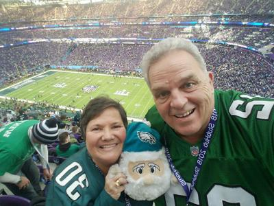 Eagles fans get good luck charm through security