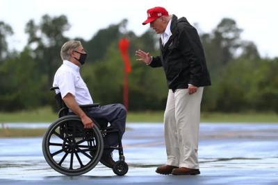 Greg Abbott and Donald Trump