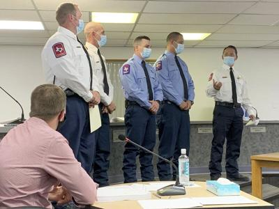 Three MW firefighters receive Life Saving Award
