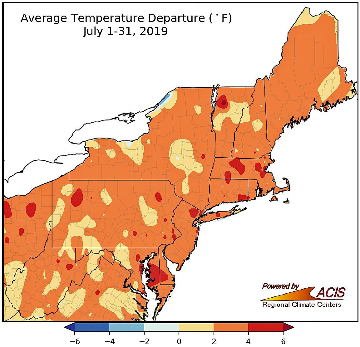 Parts of CT had hottest July on record