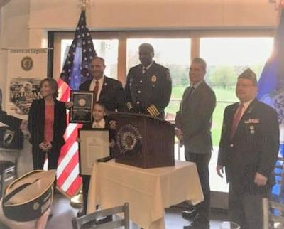 American Legion Hayes-Velhage Post 96 in West Hartford selects Police Officer of the Year