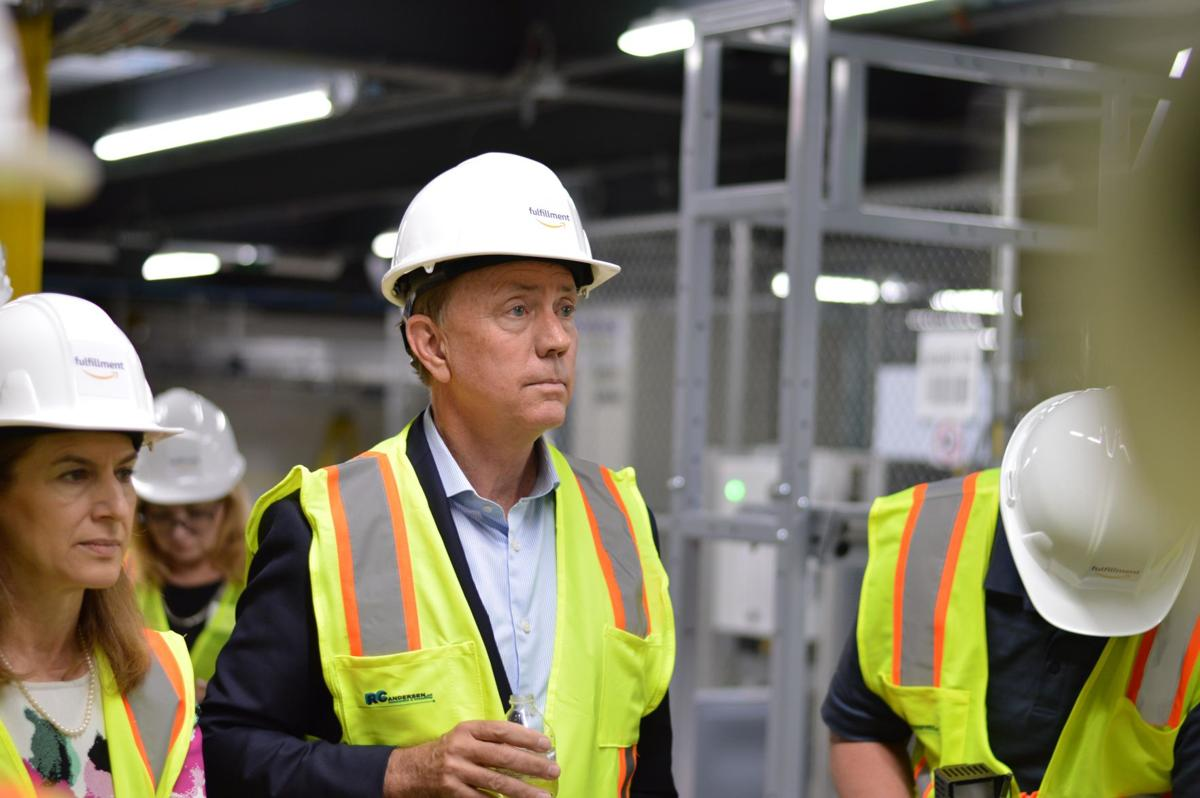 Lamont, officials get firsthand look at new North Haven Amazon facility