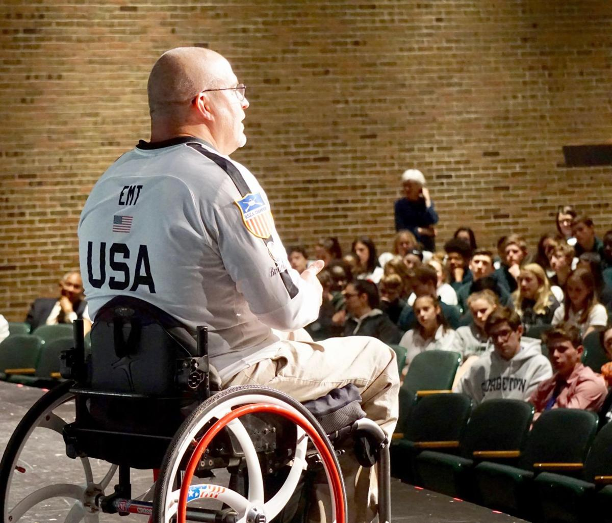 'Make good choices' is message from paralympian for Northwest Catholic students