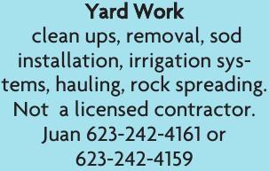Juan's Yard Work