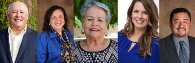 Adolfo F. Gamez. Clorinda Contreras Erives. Linda Laborin. Tida Garcia. Juan F. Rodriguez.