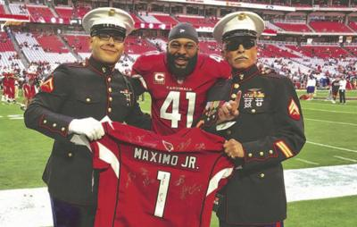 check out 2afa6 7c5c8 Arizona Cardinals honor fallen West Valley Marine | News ...
