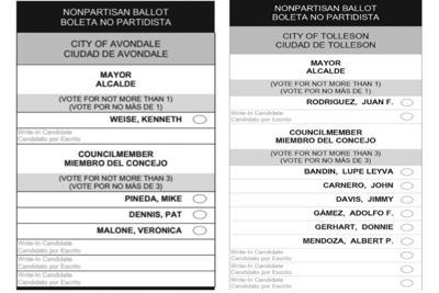 Avondale ballot