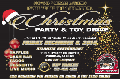 Christmas party & toy drive
