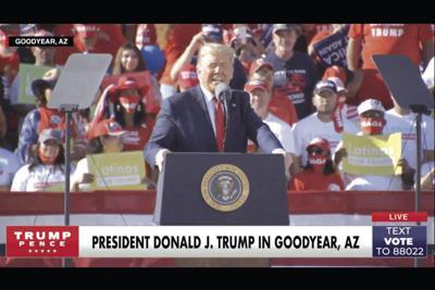 President Donald Trump Phoenix Goodyear Airport