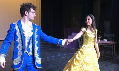 Beast dances with Belle