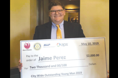 Local student named 'Overall Outstanding Young Man' City Wide Jamie Perez