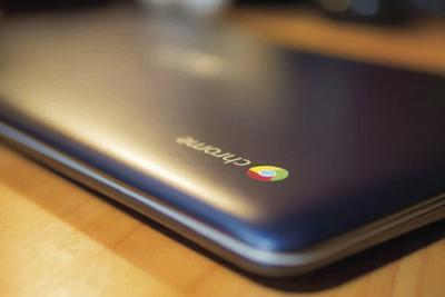 Chromebook on a table