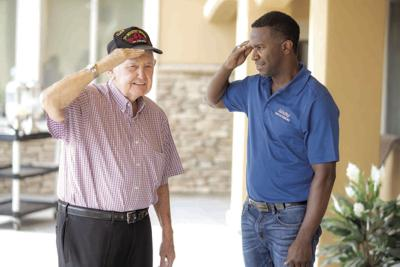 Hospice of the Valley volunteer Ron Garner and patient Kenneth Hamrick