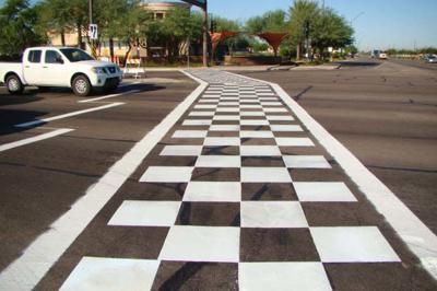 Checkered crosswalks