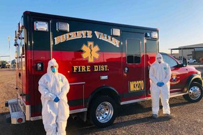 Paramedic Elizabeth Deadman, left, and EMT Jordan Valdez