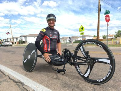David Berling, who lost his legs after a plane crash, was surprised when he found out he fared well in a qualifying time trial in Colorado.