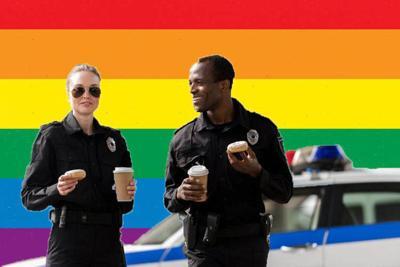 pride flag police