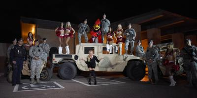 Kristin Chenoweth visited with troops at Luke Air Force Base recently.