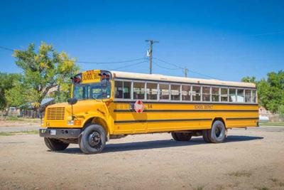 Traditional yellow school bus in North America