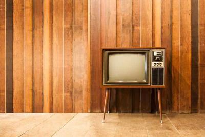 Old vintage television or tv