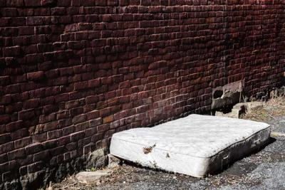 Old and dirty Abandoned Mattress