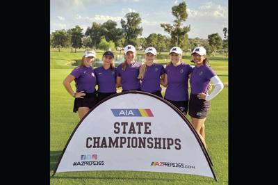 The Millennium High girls golf team