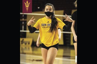 Arizona State volleyball player Jinna Zeng