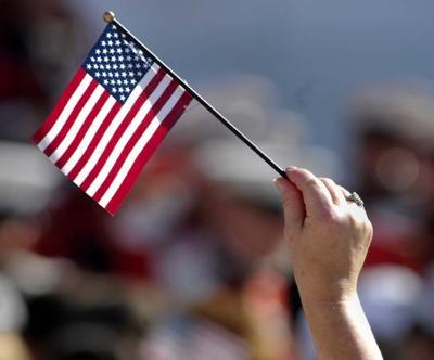 Flag and Hand