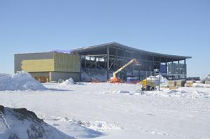 Williston-airport-progress-continues-despite-weather