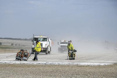 Williston Basin Airport to receive 3,000 tons of cement weekly to complete runway (copy)