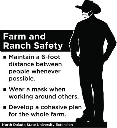 Practice physical distancing on the farm/ranch